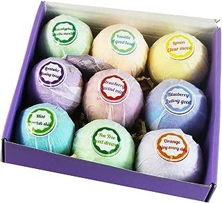 Baoblaze 9pcs Women Handmade Moisturizing Nourishing Bubble Bath Salt Balls Bombs Set
