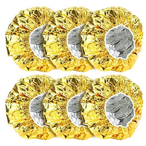 6 piezas de tapas de papel de aluminio, tapas de ducha Segbeauty para...