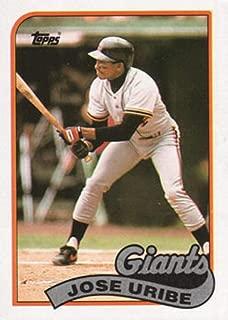 Baseball MLB 1989 Topps #753 Jose Uribe Giants