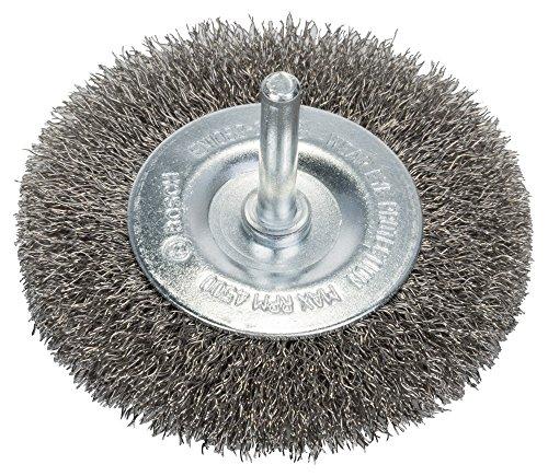 Bosch Professional Scheibenbürste, Edelstahl, gewellter Draht, 0,2 mm, 80 mm, 4 mm, 4500 U/ min, 2608622123