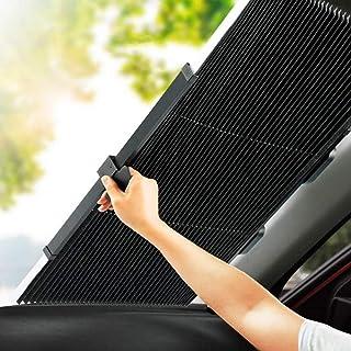 車用遮光サンシェード 車窓日よけ 遮光フロントサンシェード サンシェードカーシェード カーフロントガラスカバー フロントカバー 日焼け止め uvカット便利なストレージ 自動折りたたみ式 切断可能 取り除く必要がない 遮光断熱