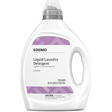 Amazon Brand - Solimo Concentrated Liquid Laundry Detergent, Lavender, 110 Loads, 82.5 Fl Oz