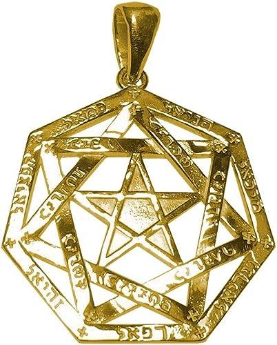diseño único Enoc amuleto dorado estrella o estrella Arcángeles Arcángeles Arcángeles  ¡no ser extrañado!