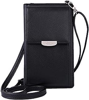 DNFC Damen Umhängetasche Kleine Handtasche Geldbörse Handy Tasche Portemonnaie Lang Geldbeutel PU Leder Geldtasche für Mädchen und Frauen