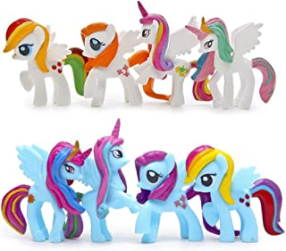LW 8 pcs Little Pony Toys, Mini Figure Collection Playset, Cake Topper
