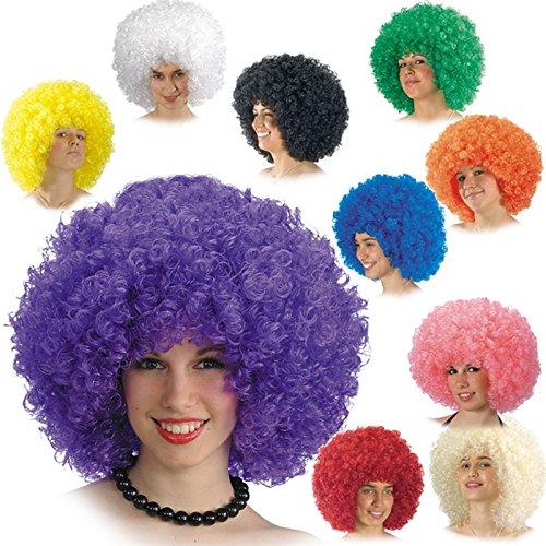 Perruque Clown Afro Bouclé Bleu Adulte - Accessoire Deguisement - 280