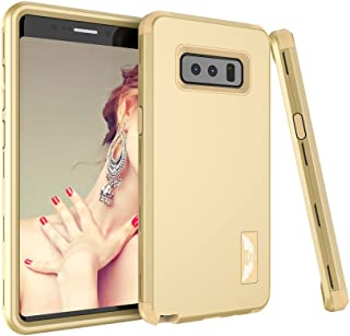 Samsung Galaxy Note 8 Case, SUMOON [New-Arrival][Drop Protection] Hybrid Heavy Duty Three Layer Verge Shockproof Full-Body Protective Armor Defender Case for Samsung Galaxy Note 8 2017 (Gold)