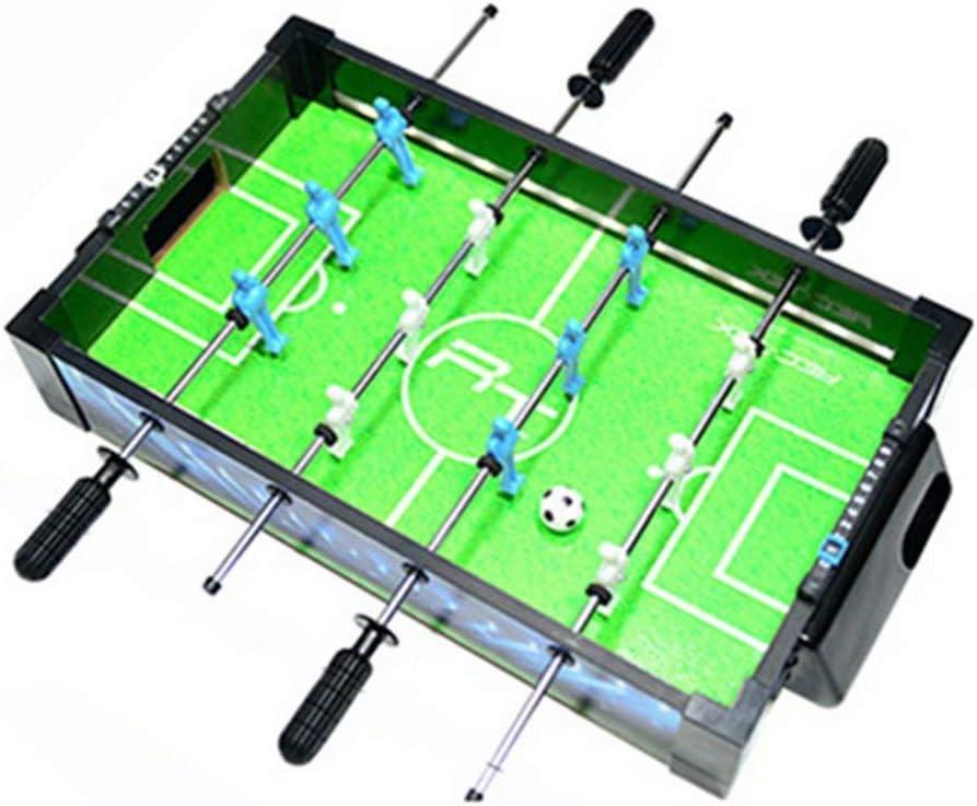 Mini futbolín, Tablero para niños, Adultos y Parejas, Mesa de Juego interactiva para Dos Personas, cancha de Luces LED