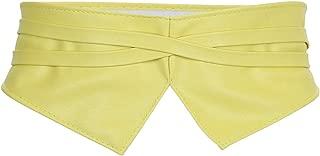 moonsix Faux Leather Waist Belts for Women, Wrap Around Boho Obi Style Cinch Waistband Belt