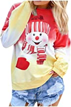 YOCheerful Trend Street Shooting Blouse Women's Fashion Letter Gradual Top Long Sleeve Novelty Round Neck Shirt Blouses