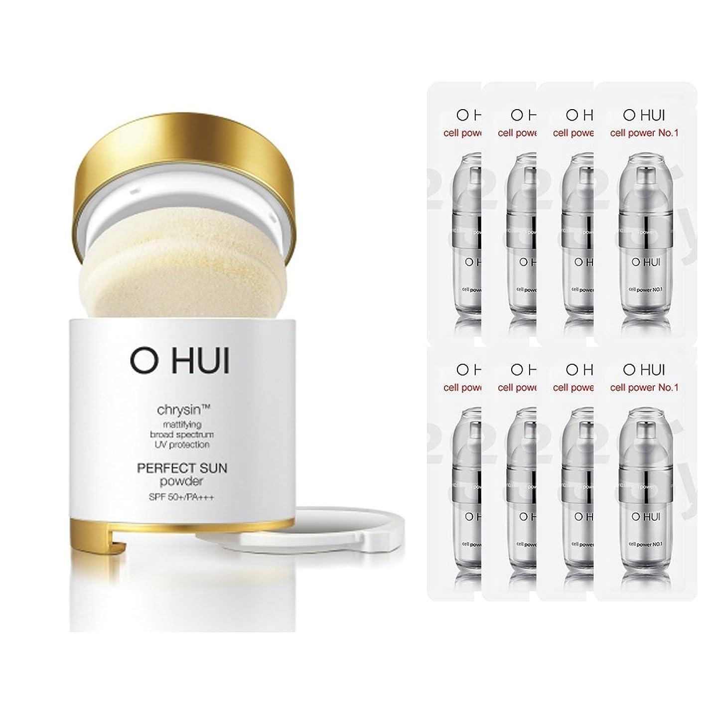 派手川画面OHUI/オフィ2015年 パーフェクトサンパウダー (OHUI Version Perfect Sun Powder SPF50++PA+++ Special Gift set) スポット [海外直送品] (2号ベージュ)