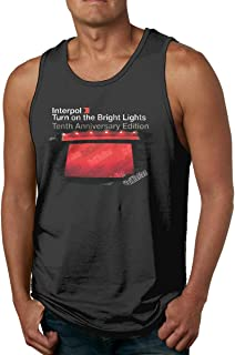 Interpol Turn On The Bright Lights Men's Gym Muscle Tank Top T-Shirt