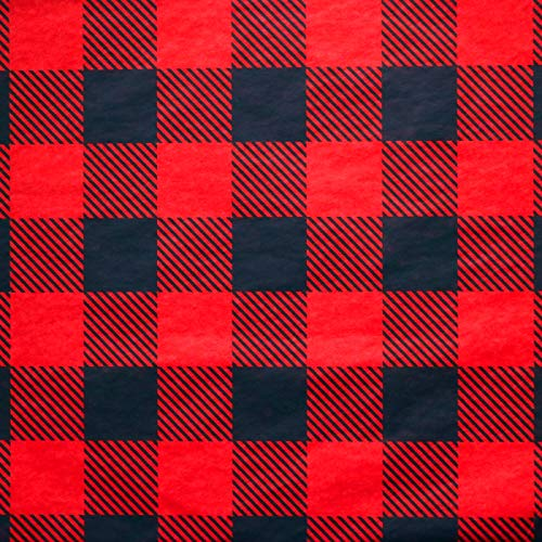 Iconikal Tissue Paper, 20 x 20-inches, Red Buffalo Plaid, 60-Sheet