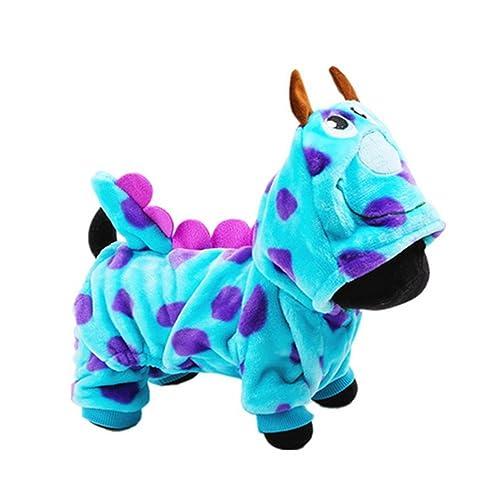 LUCKSTAR Pet Clothes for Winter - Soft & Warm Coral Velvet Puzzle Bobble Dog Costume -