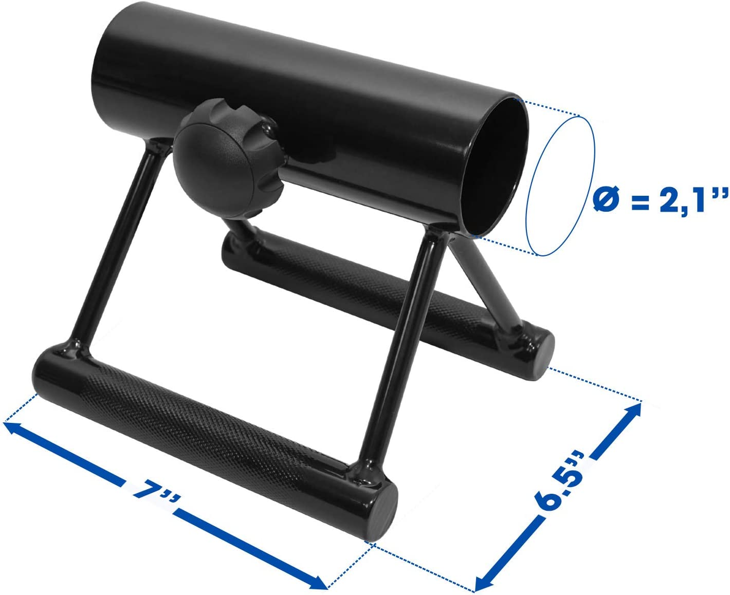 Double D Landmine Handle Fits 2-inch Olympic Bars Yes4All Landmine Double D Row Handle//Landmine Handle Attachment with Non Slip Handles