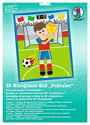 Ursus 8780009 - Moosgummi Bild 3D Fußballer