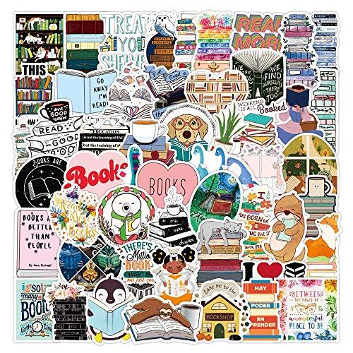 YZFCL Premium Reading Books Sticker Waterproof Die Cut Matte Sticker I Love Reading Vinyl Stickers 100Pcs
