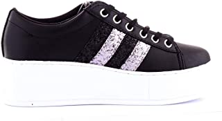 Guess Luxury Fashion Womens FL7NEOELE12BLACK Black Sneakers | Fall Winter 19