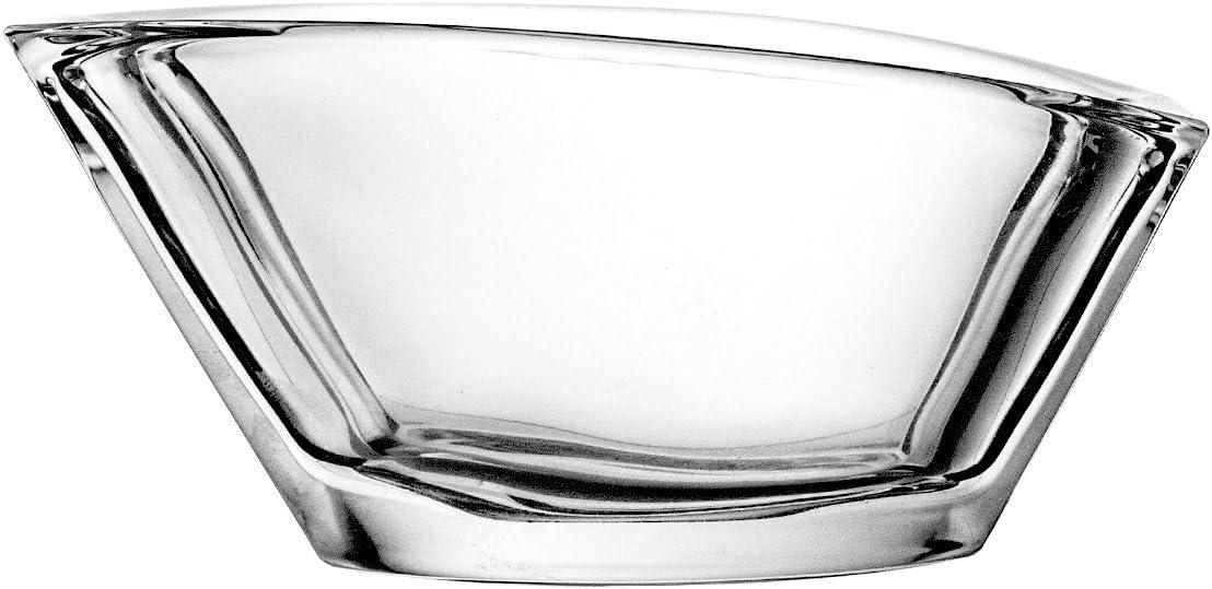 13,5 cm Crystaljulia Colore: Rosso Scuro Ciotola in Cristallo di Piombo