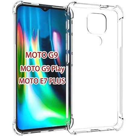 GINDIN Funda para Motorola Moto G9 Play y Moto E7 Plus, Transparente Carcasa Protección a Bordes y Cámara con Absorción de Choque Cojín de Esquina Parachoques con Panel Posterior Marco Reforzado de TPU Suave- Claro