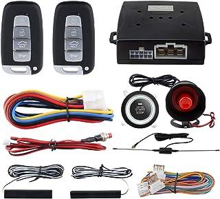EASYGUARD EC003N-K Car Alarm System keyless Entry pke Remote Engine Start Stop Push Start Stop Automatically Lock or Unloc...