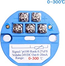 Temperature Sensor Transmitter, 0-300℃ 24V DC 4-20MA RTD PT100 SBW for Integrated Thermal Resistance/Thermocouple PLC Module