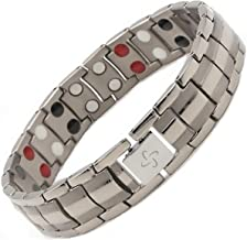 Reevaria Bracelet for Arthritis, Titanium 4 elements in 1 Magnetic Therapy Bracelet Pain Relief for Arthritis and Carpal Tunnel