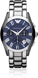 Emporio Armani Classic Men's Blue Dial Stainless Steel Watch - AR1635