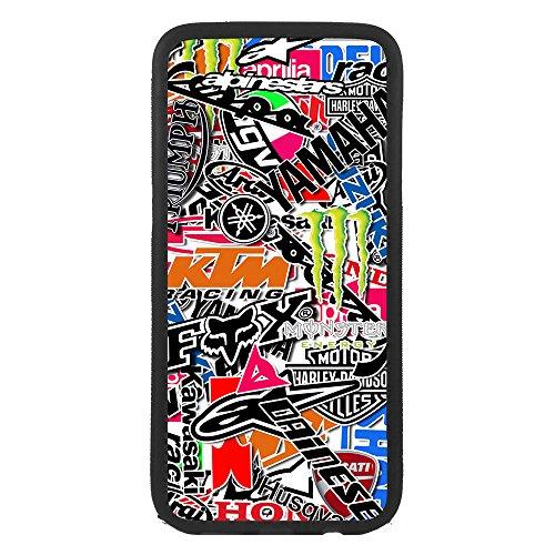 afrostore Funda Carcasa de móvil para Huawei P8 Lite Logo Motos Logotipo TPU Borde Negro