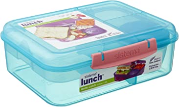 Sistema Bento Lunch Food Container, 1.65 Liters - Turquoise