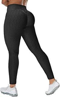 LAOTEPO Butt Lifting Anti Cellulite Sexy Leggings for Women High Waisted Yoga Pants Workout Tummy Control Sport Tights