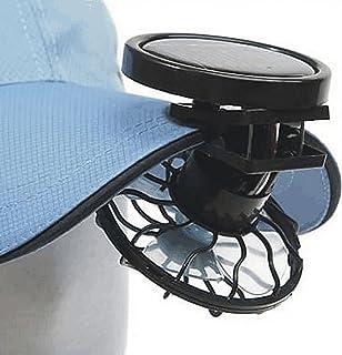 GEZICHTA Ventilador solar con clip para manos libres, panel de energía para camping, senderismo, pesca al aire libre