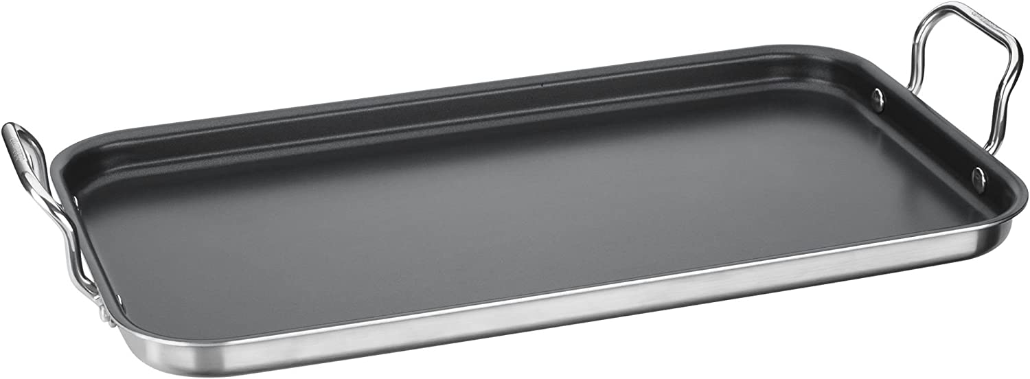 Cuisinart MCP45-25NS Double Burner Griddle, 10  x 18 , Stainless Steel