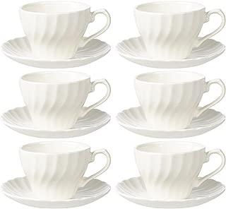 Churchill Chelsea White Teacup & Saucer (Set of 6)