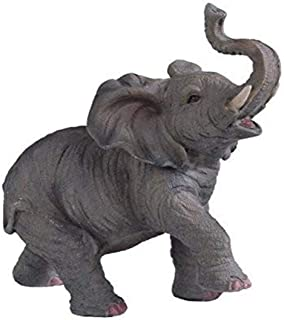 """StealStreet SS-G-54135 Small Polyresin Elephant with Trunk Up Figurine Statue, 6.5"""""""