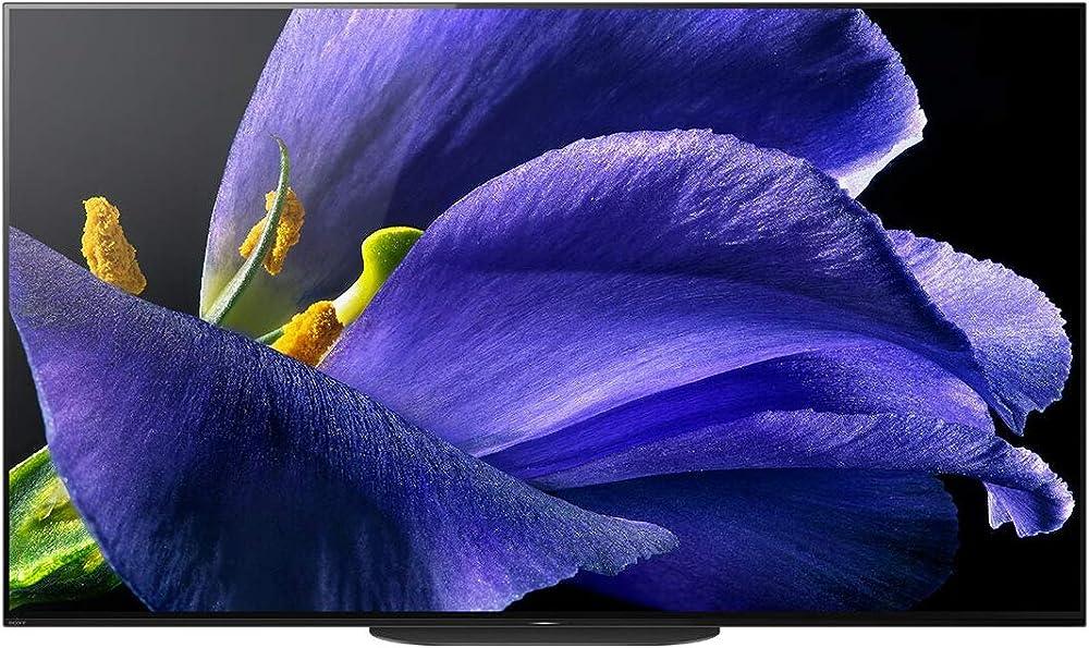 Sony televisore  android tv oled da 55 pollici, smart tv 4k hdr ultra hd con controllo vocale hands-free KD-55AG9