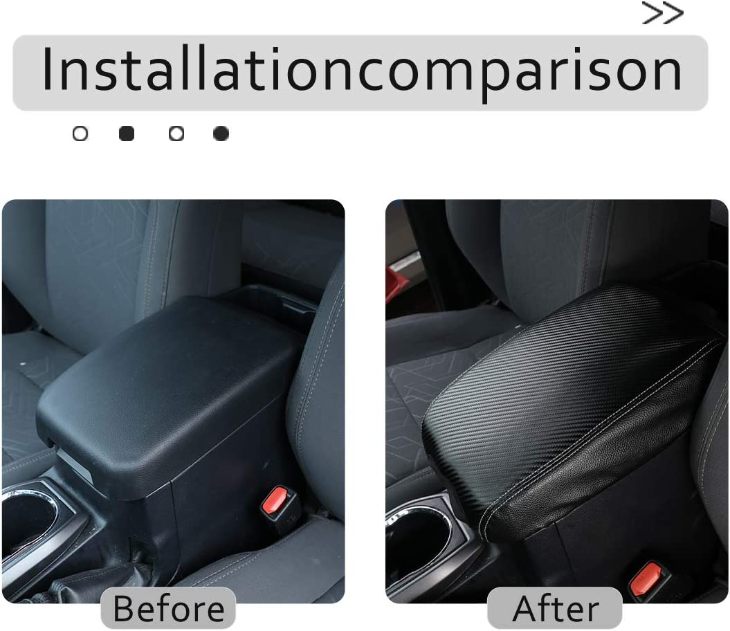 TongSheng Center Console Armrest Cushion for Toyota Tacoma Accessories 2016 2017 2018 2019 2020 2021 Leather Center Console Protector Black
