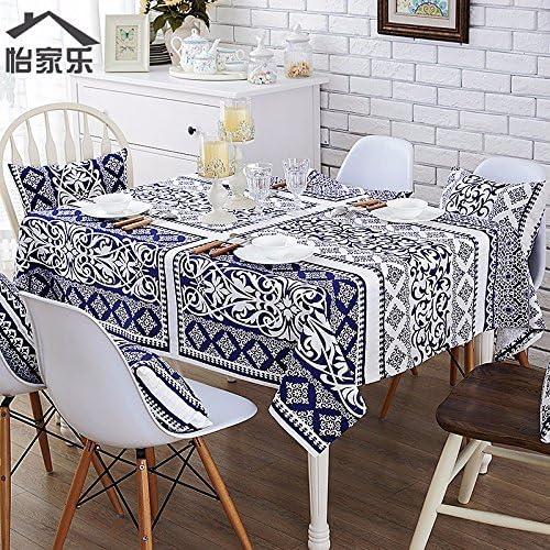 JinYiDian'Shop-Einfache Bedruckte Tischdecke aus Baumwolle, Leinen Tischdecken rechteckige Moderne Tischdecke, einteilig, A, 140