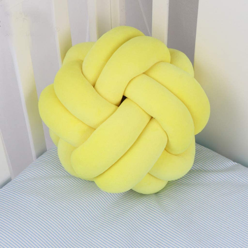 SHUANGSHI Mail order Knotted Weekly update Pillow Soft Knot Pi Stuffed Ball Bed Cushions