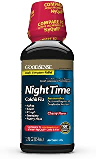 Best GoodSense Nighttime Cold and Flu Relief, Cherry Flavor, Cold and Flu Liquid Review