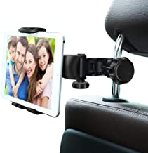 """Car Headrest Mount, Ansteker Adjustable Car Tablet Mount Holder for iPad Pro/Air/Mini,Tablets, Nintendo Switch,Kindle Fire HD,iPhone,Smartphones Headrest Holder Stand for 4""""-11"""" Wide with 360°Rotation"""