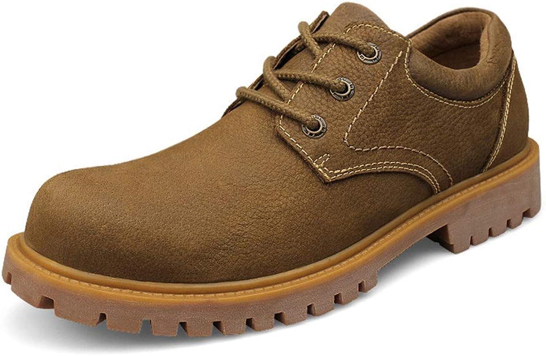 Easy Go Shopping Herren Stiefeletten Casual Klassisch Britisch Stil Bequeme Arbeitsschuhe,Grille Schuhe  | Hochwertig