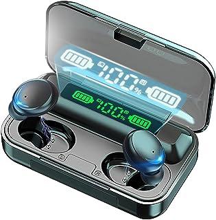 Wireless Earbuds Headphones, Bluetooth 5.0 Sport Earphones with Wireless Charging Case, IPX7 Waterproof Deep Bass Earbuds ...