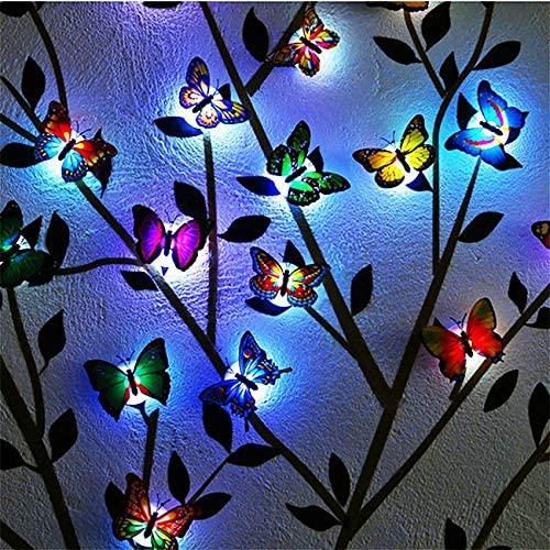 At the price of surprise Cute Colorful Changing Butterfly LED Butterf 3D Night Easy-to-use Light