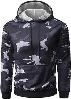 Militare da Uomo Urban Nero,Bianco e Grigio Mimetico Felpa Cappuccio Zip Intera