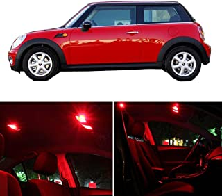 SCITOO 11 Pcs Red Interior LED Light Package Kit Replacement Bulbs Fits for Mini Cooper 2003-2009