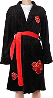 Anime-Cos Akatsuki Uchiha Itachi Kimono Bathrobe for Men Sleepwear Anime Robe Nightwear Pajamas