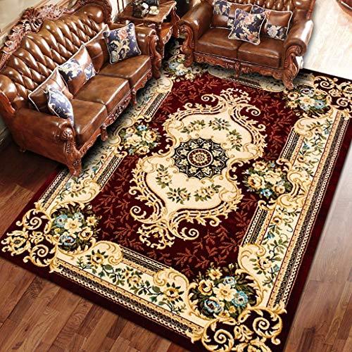 Bedroom Antislipmat voor slaapkamer, zeer comfortabel, voor woonkamertapijt, tapijt voor loopband, M deurmat, koraalmat, voor thuis, verkrijgbaar 300×400cm Rood