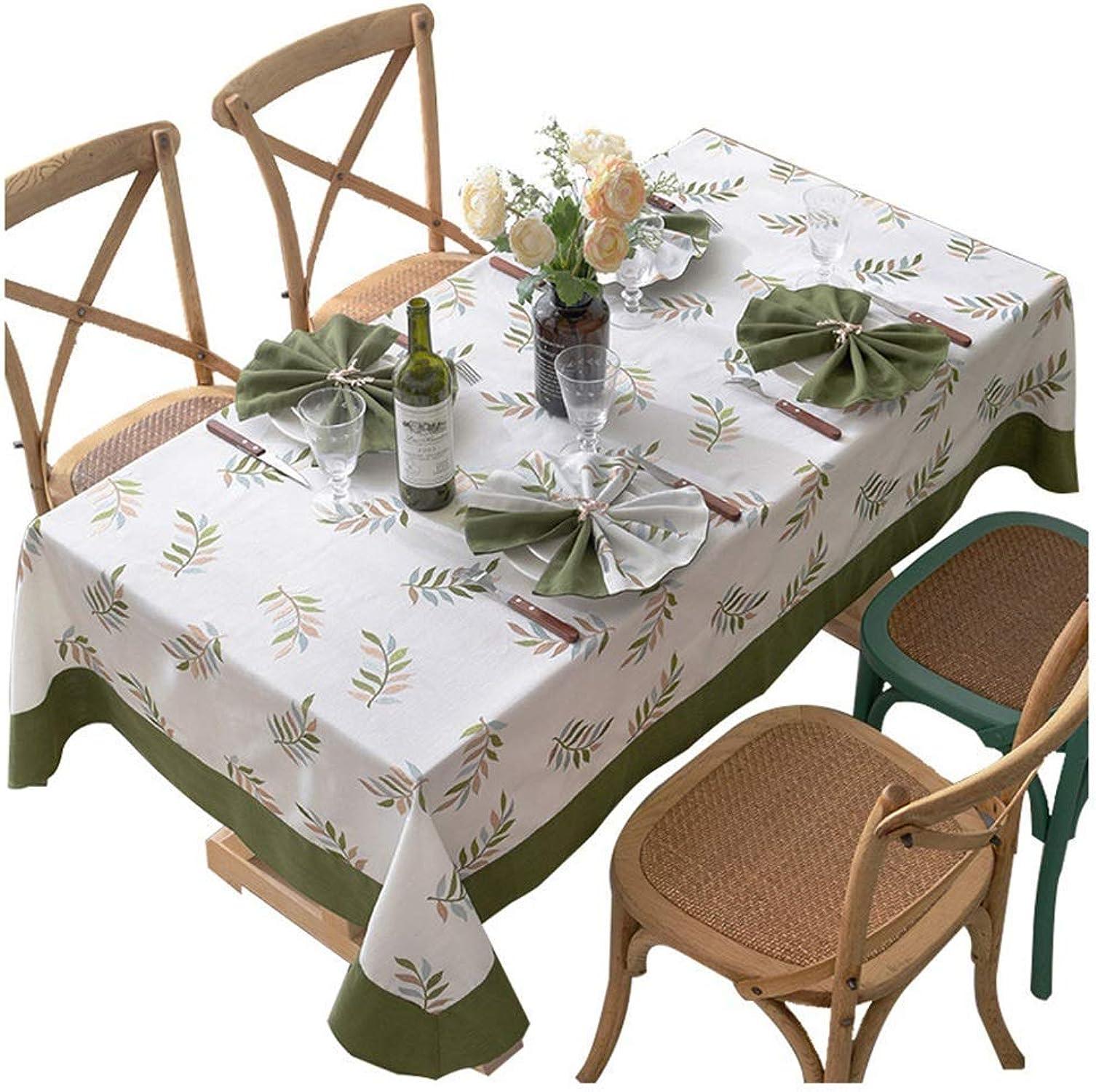WENYAO Nappe - Nappe de Pays Américain Nappe de Table Rectangulaire Restaurant Table Basse Plante Fleur Motif Décoration de Table Tissu (Taille  110x170cm)