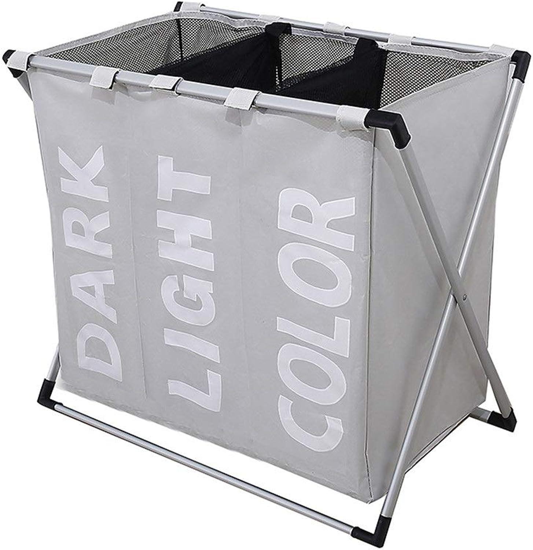 marcas en línea venta barata YAzNdom Caja de Almacenamiento de Ropa para el el el hogar, Tela Impermeable para el Medio Ambiente, Canasta de lavandería, Compartimento Plegable para el Compartimiento (Color   blancoo)  caliente